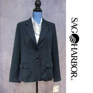NEW Sag Harbor Navy Blue Blazer Size 10